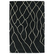 Casablanca Charcoal Geomatricl Indoor/Outdoor Rug