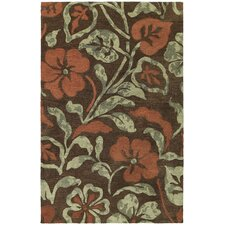 Calais Lily In The Valley Brown Rug
