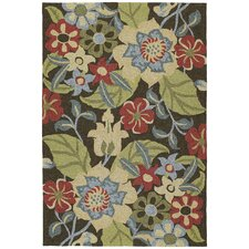 Habitat 21 Salty Leaves Mocha Indoor/Outdoor Rug