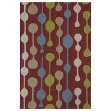 Home and Porch Red Indoor/Outdoor Rug