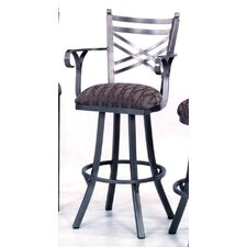 "New Rochelle 34"" Bar Stool with Cushion"