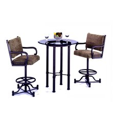 Bullseye 3 Piece Pub Table Set