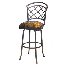 "Bradley 34"" Swivel Bar Stool with Cushion"