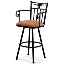 "Longhorn 26"" Counter Stool w/ Arms"