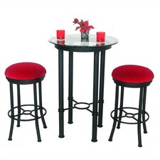 Bullseye 3 Piece Counter Height Pub Table Set