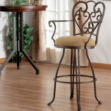 "Verona 26"" Swivel Bar Stool with Cushion"