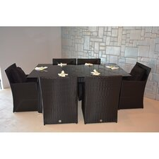Star 7 Piece Dining Set with Cushions