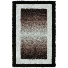Rope Shaggy Black Rug