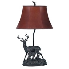 "Deer Family 28"" H Table Lamp with Bell Shade"