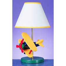 <strong>Cal Lighting</strong> Juvenile Airplane Table Lamp