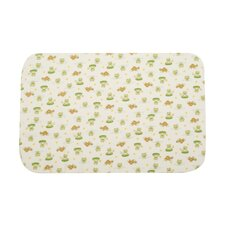 "Basics Lilypad Frog Waterproof Flannel 6"" Bassinet Mattress Pad"