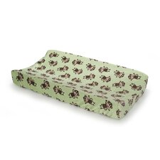 Basics Monkey Velour Changing Pad Cover