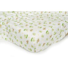 Basics Lilypad Frog Quilted Playard Fitted Sheet