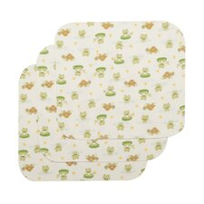 "3 Piece Basics Lilypad Frog Waterproof 0.75"" Lap Mattress Pad Set"