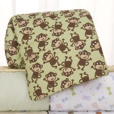 Basics Monkey Quilted Playard Fitted Sheet