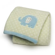 Basics Elephant Printed Embroidered Blanket