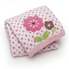 Basics Floral Mix Printed Embroidered Blanket