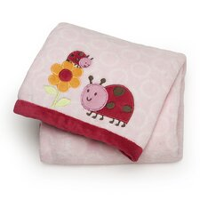 Basics Ladybug Printed Embroidered Blanket