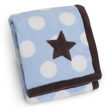 Basics Star Printed Embroidered Blanket