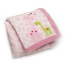 Basics Giraffes Printed Embroidered Blanket