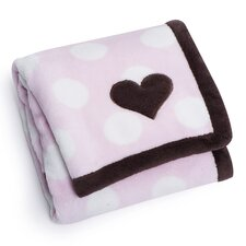 Basics Heart Printed Embroidered Blanket