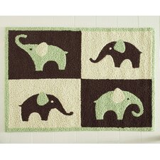 Green Elephant Kids Rug