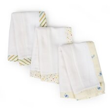 3 Piece Basics Animal Burp Cloth Set