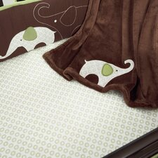 Green Elephant Fitted Sheet