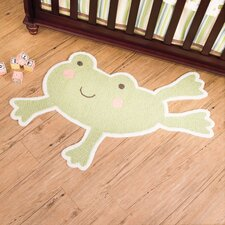 In the Pond Frog Kids Rug