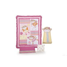 Fairy Monkey 4 Piece Crib Bedding Set