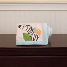 Jungle Play Embroidered Boa Blanket