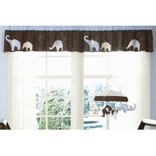 Blue Elephant Rod Pocket Tailored Curtain Valance
