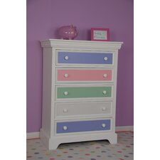 <strong>Comfort Decor</strong> Color Box 5 Drawer Chest