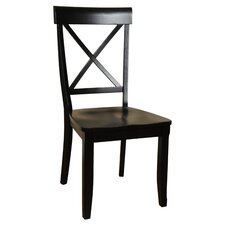 Contemporary X Back Side Chair (Set of 2)