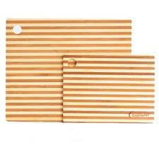2 Piece Bamboo Prep Board Set