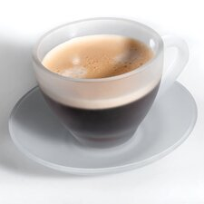 11.2 oz. Frosted Cup and Saucer (Set of 8)