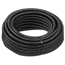 "1.5"" x 600"" Reinforced Black Corrugated Tubing"
