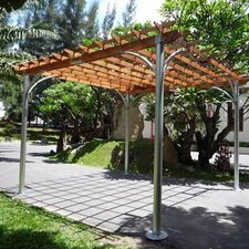 "Contemporary 8' 9"" H x 13' 9"" W x 13' 9"" D Pergola"