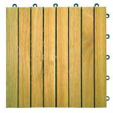 "<strong>Vifah</strong> Plantation Teak 11"" x 11"" Interlocking Deck Tiles"