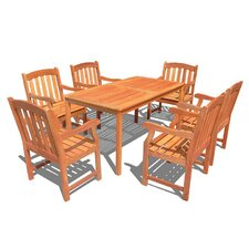Outdoor Wood English Garden Dining Set 29