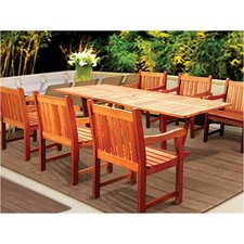<strong>Vifah</strong> Airblade 7 Piece Dining Set