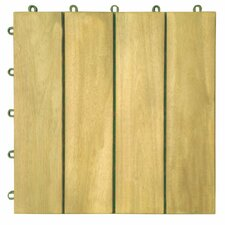 "<strong>Vifah</strong> Plantation Teak 12"" x 12"" Interlocking Deck Tiles"