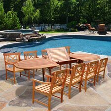 <strong>Vifah</strong> Patio 9 Piece Dining Set