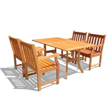 <strong>Vifah</strong> Atlantic 5 Piece Dining Set