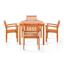 <strong>Vifah</strong> Hardwick 5 Piece Dining Set
