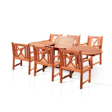 <strong>Vifah</strong> Patio 7 Piece Dining Set