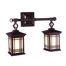 <strong>Dale Tiffany</strong> Avery 2 Light Wall Lantern