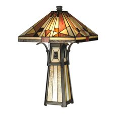 <strong>Dale Tiffany</strong> Mission Shade and Base 2 Light Table Lamp