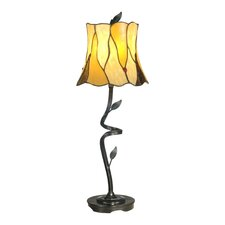 Buffet Twisted Leaf Tiffany 1 Light Table Lamp