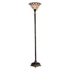 Peacock Tiffany Torchiere Floor Lamp